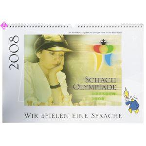 Wall calendar Chess Olympiad Dresden 2008