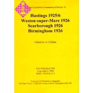 Hastings 1925/6, Weston-super-Mare 1926