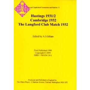 Hastings 1931/2, Cambridge 1932