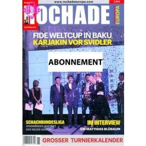 Jahresabonnement Rochade Europa - Inland