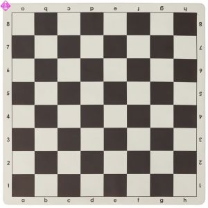 chess board, rollable - brown/white