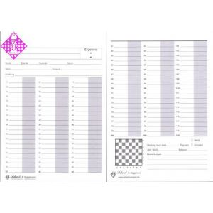 Game sheets 60/120, DIN A5, per 100
