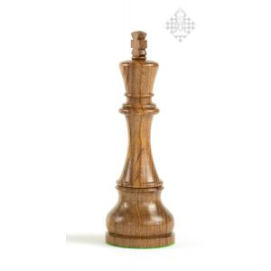 Schachfigur König, Palisander, 18,5 cm groß