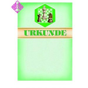 Certificate, bright green/bar/motif