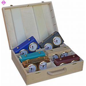 Koffer, Holz, für 10 BHB / RCR Schachuhren