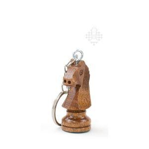 Schlüsselanhänger, Springer, Holz, dunkel