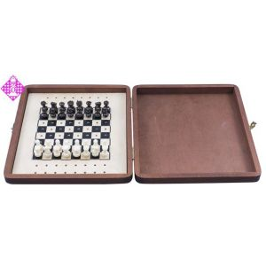 Travel chess SN, wooden cabinet