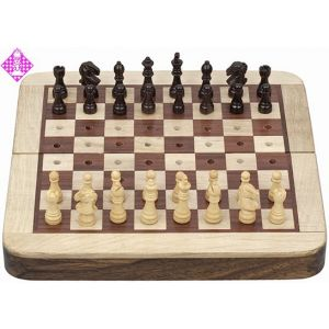 Chess set, rosewood, pegged