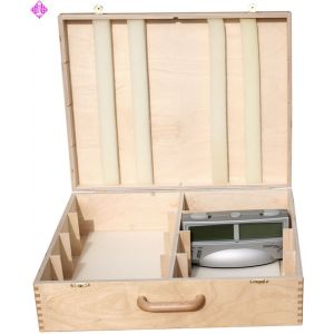 Wooden case for 8 x Chess Timer Silver