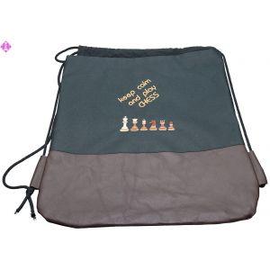 "Sports-bag ""Schach - keep calm"", big"