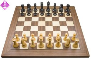 PC-Brett Bluetooth Nussbaum / Figuren FIDE