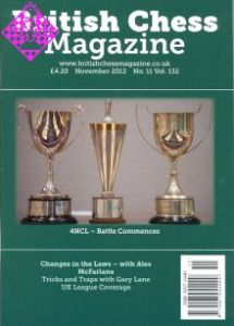 British Chess Magazine November 2012