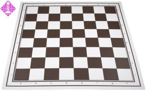 Schachplan, klappbar, dunkelbraun/weiß