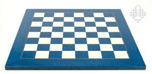 Schachbrett Vogelaugenahorn, blau, FG 45mm