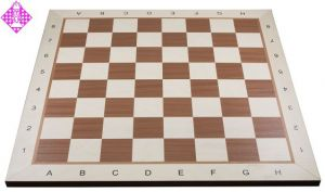 Chessboard mahogany/maple, field square 50 mm