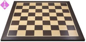 Chessboard wenge/maple, field square 58 mm