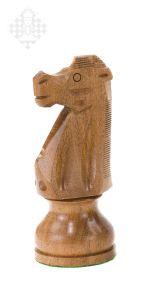 Schachfigur Springer, Palisander, 18 cm groß