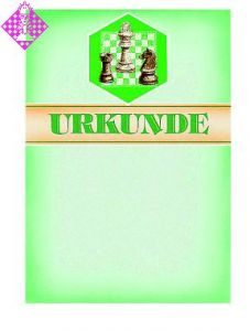 Certificate, bright green/bar/motif