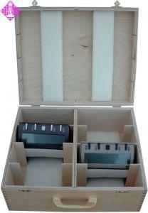 Koffer, Holz, für 8 x DGT 3000